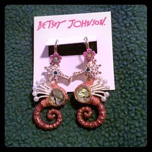 Betsey Johnson Seahorse Earrings
